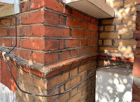 Exterior Brick Wall Crack