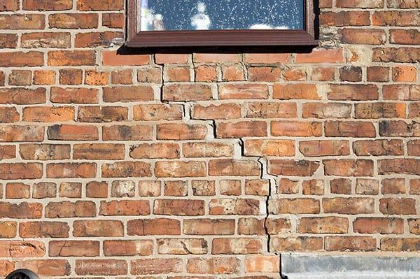 Cracks on Brick Wall